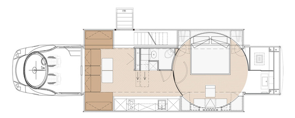 © Marchi Mobile - Floor Plan Mansion on wheels Marchi eleMMent palazzo Superior